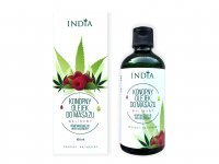 INDIA COSMETICS Konopny olejek do masażu malinowy 100 ml