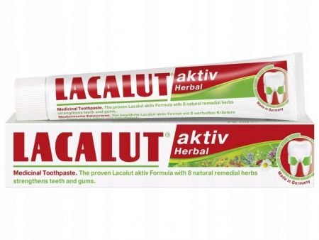 LACALUT ACTIV HERBAL Pasta do zębów 75 ml