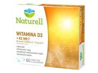 NATURELL Witamina D3 + K2 MK-7 60 tabl. do ssania